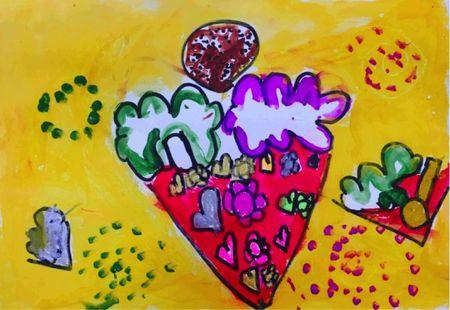 幼儿园美术作品雪糕