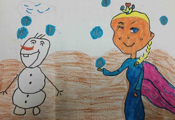 小公主儿童水彩笔画步骤