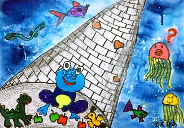 儿童创意美术图片青蛙图片