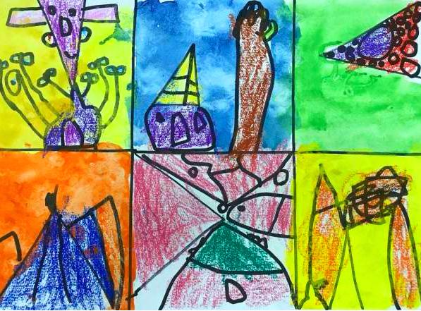 宝贝计画儿童美术绘画作品:小老鼠大怪兽