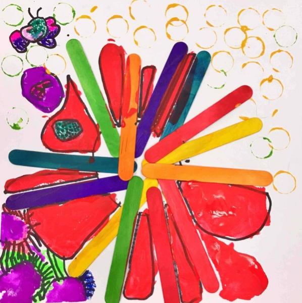 幼儿园小班美术教案大全:涂色为主,毛毛虫,棒棒糖,吹泡泡,小花伞