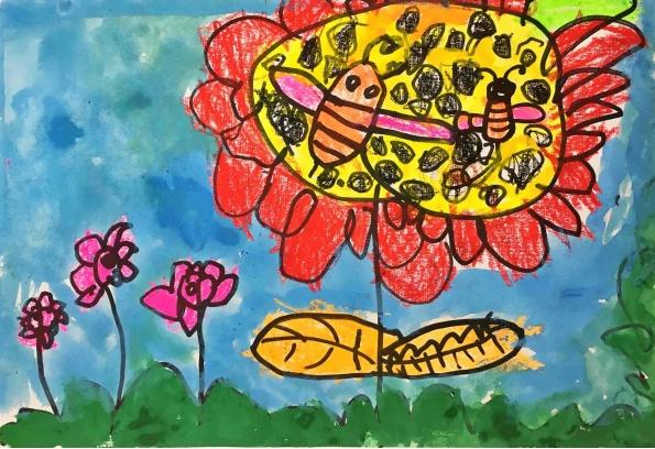 向日葵-幼儿园大班美术