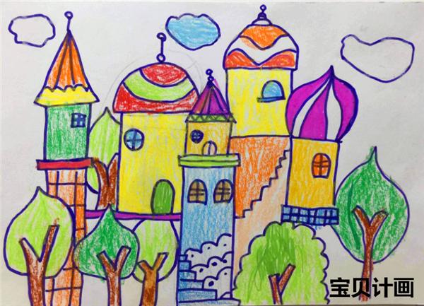 少儿美术小学生作品图片-儿童美术教育-宝贝计画