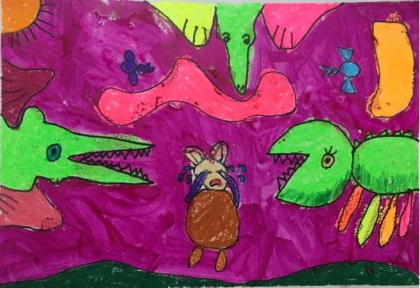 宝宝学画龙怎么画儿童美术